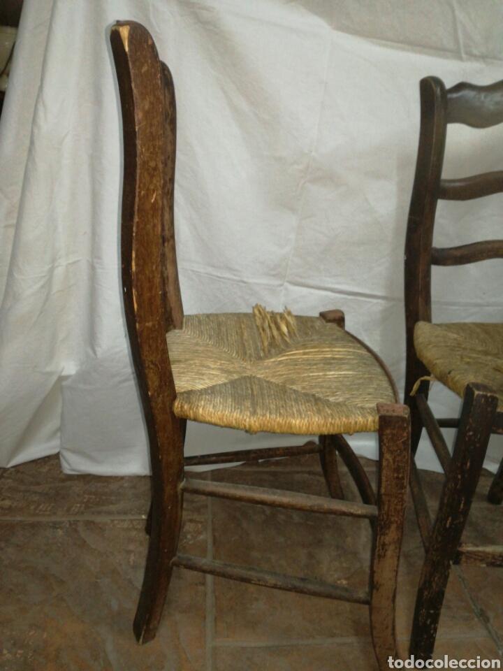 Antigüedades: Pareja de antiguas sillas para restaurar - Foto 4 - 117377858