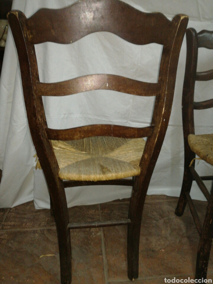 Antigüedades: Pareja de antiguas sillas para restaurar - Foto 5 - 117377858