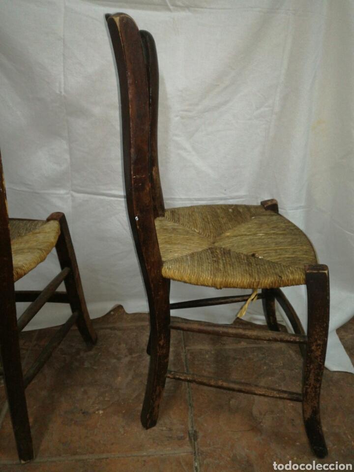 Antigüedades: Pareja de antiguas sillas para restaurar - Foto 6 - 117377858