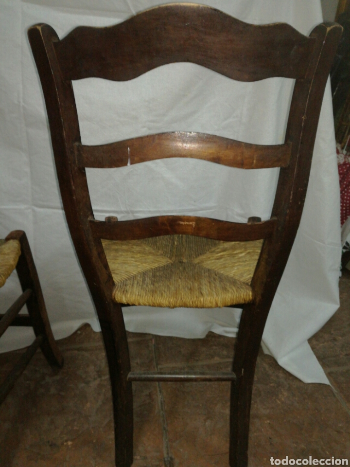 Antigüedades: Pareja de antiguas sillas para restaurar - Foto 7 - 117377858