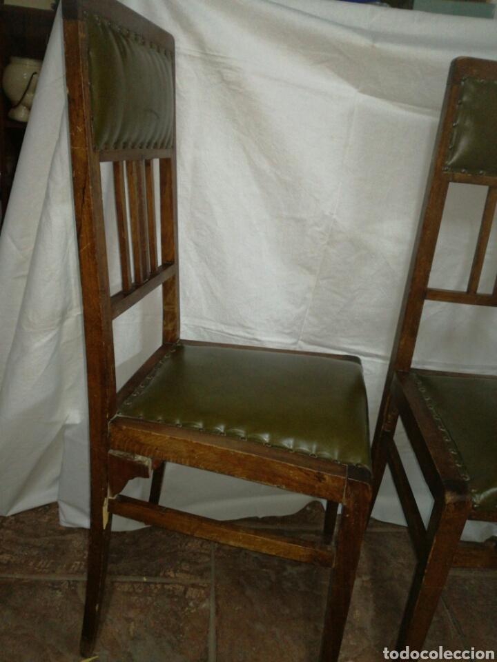 Antigüedades: Pareja de antiguas sillas modernistas para restaurar - Foto 3 - 117378524