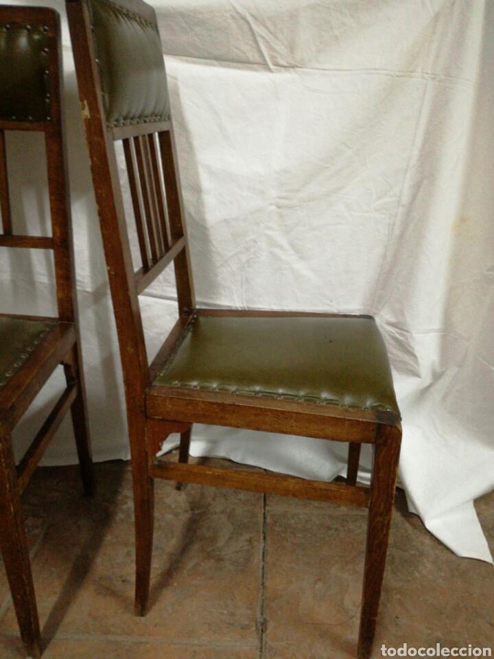 Antigüedades: Pareja de antiguas sillas modernistas para restaurar - Foto 8 - 117378524