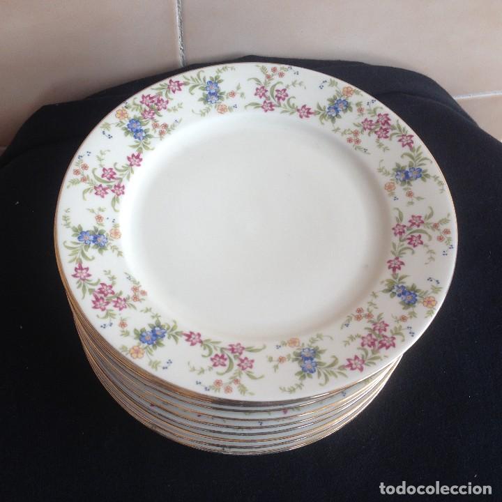Antigüedades: Lote de 11 platos de porcelana de postre.johann seltmann vohenstraub cualitats porzelaine,bavaria. - Foto 2 - 117387903