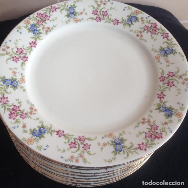 Antigüedades: Lote de 11 platos de porcelana de postre.johann seltmann vohenstraub cualitats porzelaine,bavaria. - Foto 3 - 117387903