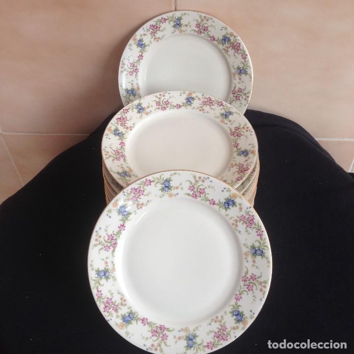 Antigüedades: Lote de 11 platos de porcelana de postre.johann seltmann vohenstraub cualitats porzelaine,bavaria. - Foto 5 - 117387903