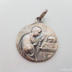 Antigüedades: MEDALLA EN PLATA CON INICIALES GRABADAS ( AÑO 1926 ). Lote 117420919