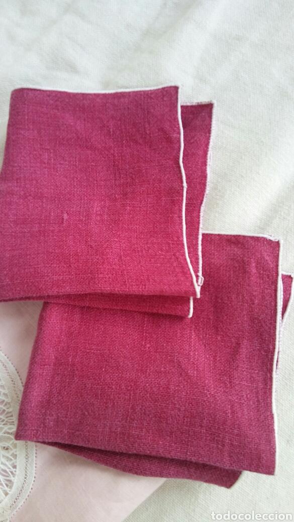 Antigüedades: Mantel en lino y encaje de bolillos (+ 2 servilletas de oferta) - Hacen ofertas por favor !!! - Foto 9 - 117429510