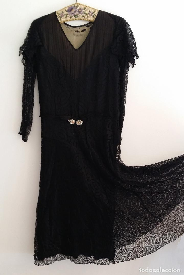 Antigüedades: Autentico vestido de encaje Art Deco - Foto 2 - 117435671