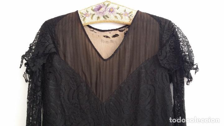 Antigüedades: Autentico vestido de encaje Art Deco - Foto 3 - 117435671
