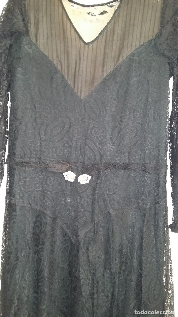 Antigüedades: Autentico vestido de encaje Art Deco - Foto 4 - 117435671