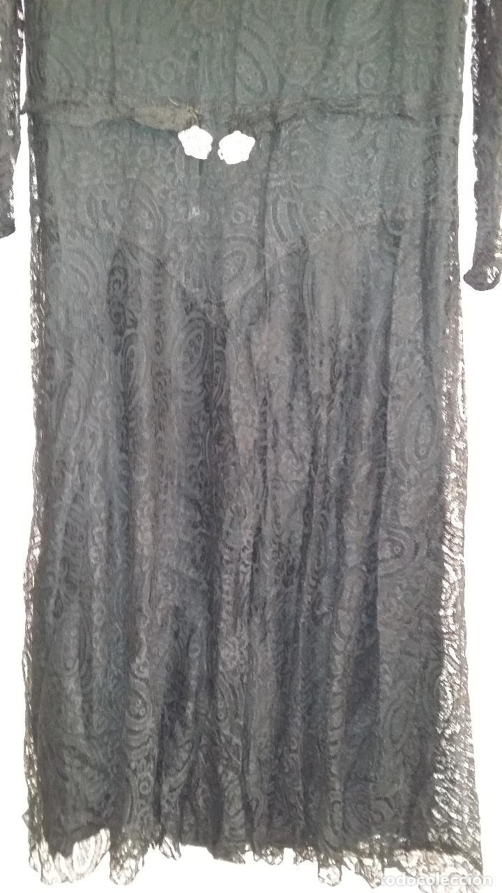Antigüedades: Autentico vestido de encaje Art Deco - Foto 5 - 117435671