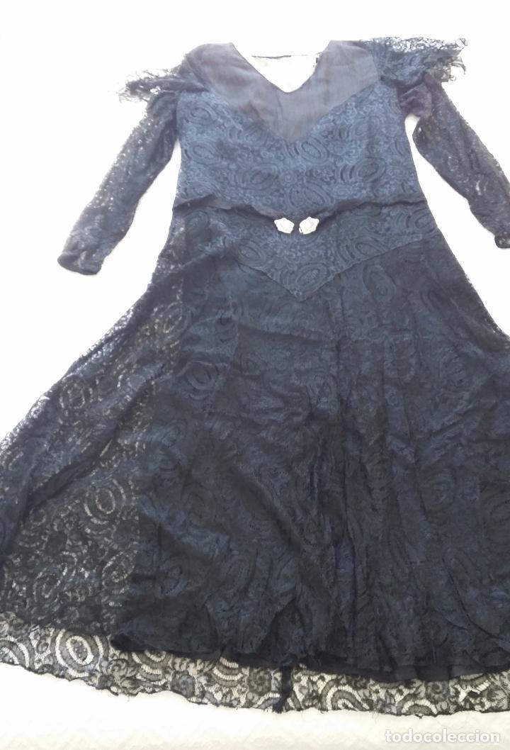 Antigüedades: Autentico vestido de encaje Art Deco - Foto 6 - 117435671