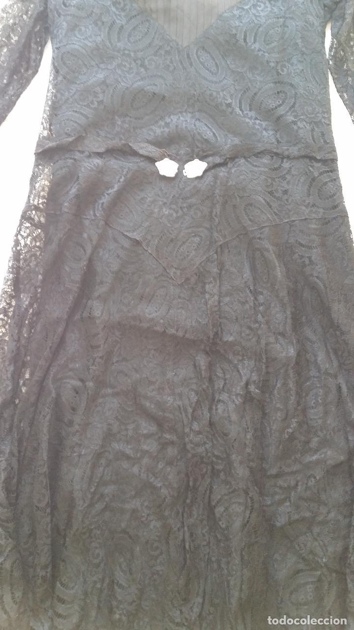 Antigüedades: Autentico vestido de encaje Art Deco - Foto 13 - 117435671