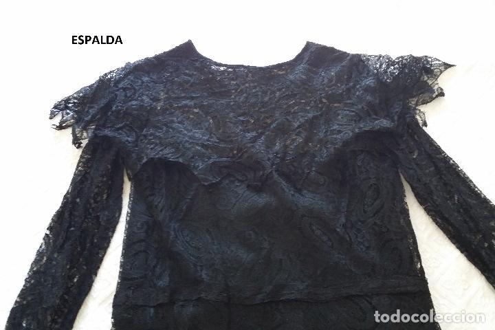 Antigüedades: Autentico vestido de encaje Art Deco - Foto 17 - 117435671