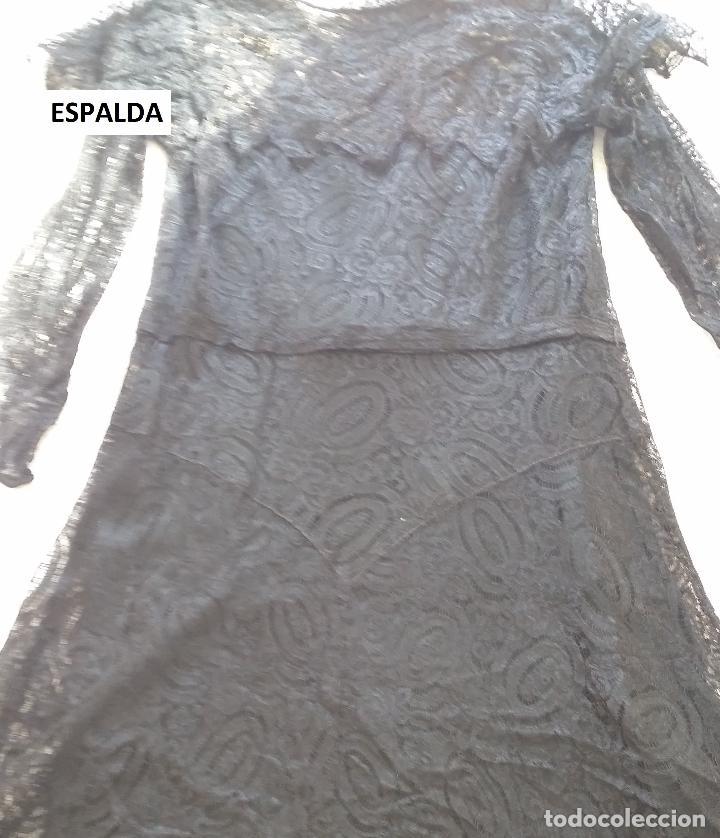 Antigüedades: Autentico vestido de encaje Art Deco - Foto 18 - 117435671