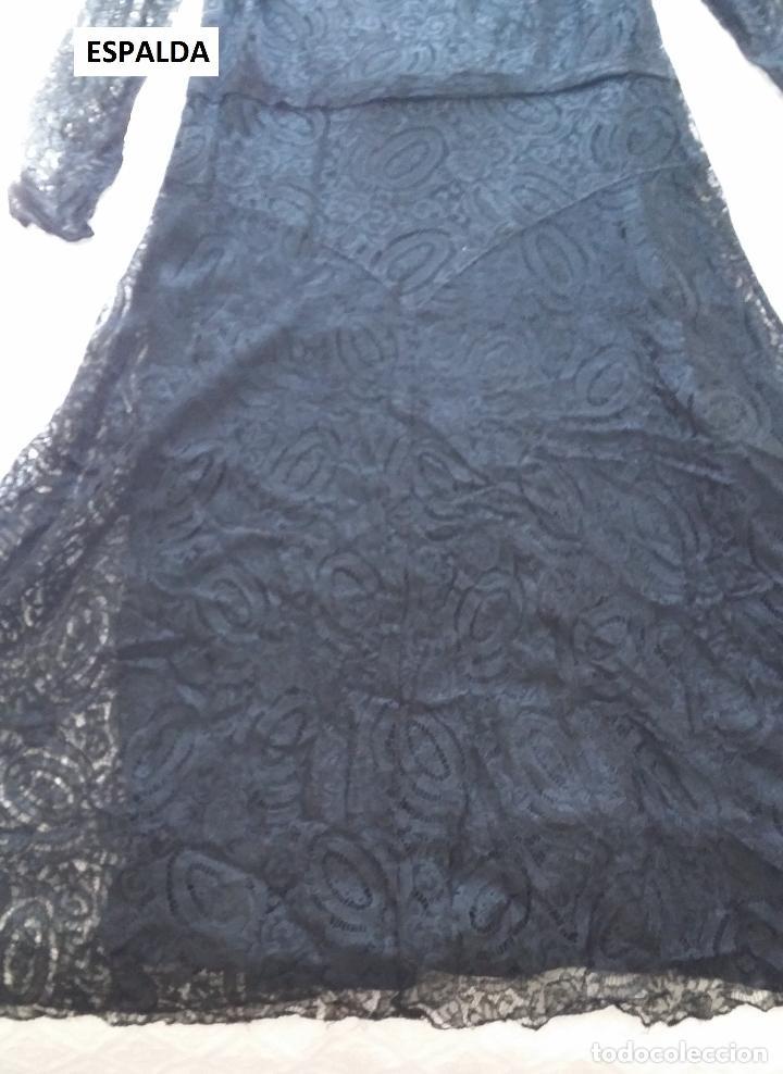 Antigüedades: Autentico vestido de encaje Art Deco - Foto 19 - 117435671