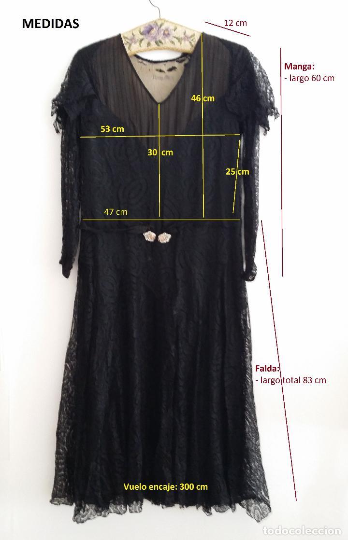 Antigüedades: Autentico vestido de encaje Art Deco - Foto 24 - 117435671