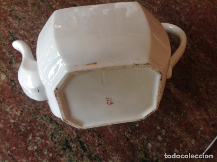 Antigüedades: Tetera blanca numerada - Foto 6 - 117439256