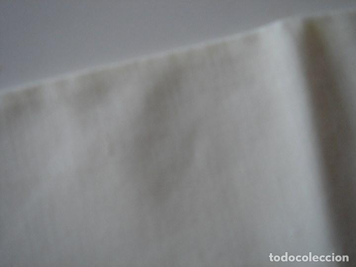 Antigüedades: sabana de hilo con encaje y bordado,color huevo (11) - Foto 6 - 161296676