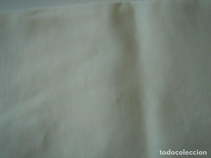 Antigüedades: sabana de hilo con encaje y bordado,color huevo (11) - Foto 7 - 161296676