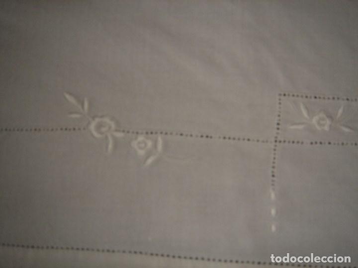 Antigüedades: juego de cama de hilo modernista con aplicacioes de encaje,para cama pequeña (1) - Foto 2 - 117447571