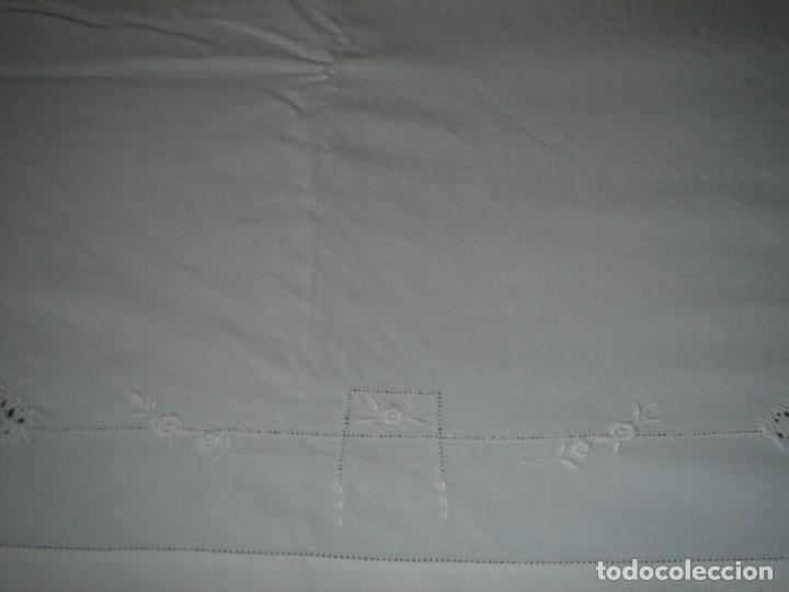 Antigüedades: juego de cama de hilo modernista con aplicacioes de encaje,para cama pequeña (1) - Foto 5 - 117447571