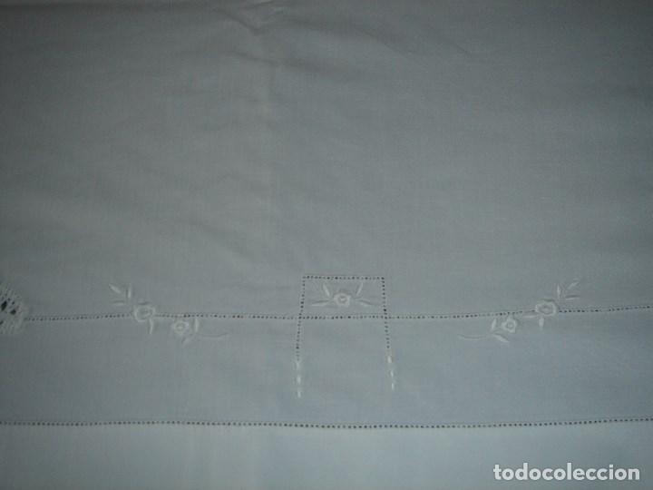 Antigüedades: juego de cama de hilo modernista con aplicacioes de encaje,para cama pequeña (1) - Foto 6 - 117447571