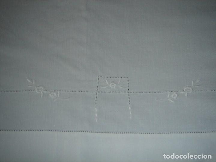 Antigüedades: juego de cama de hilo modernista con aplicacioes de encaje,para cama pequeña (1) - Foto 7 - 117447571
