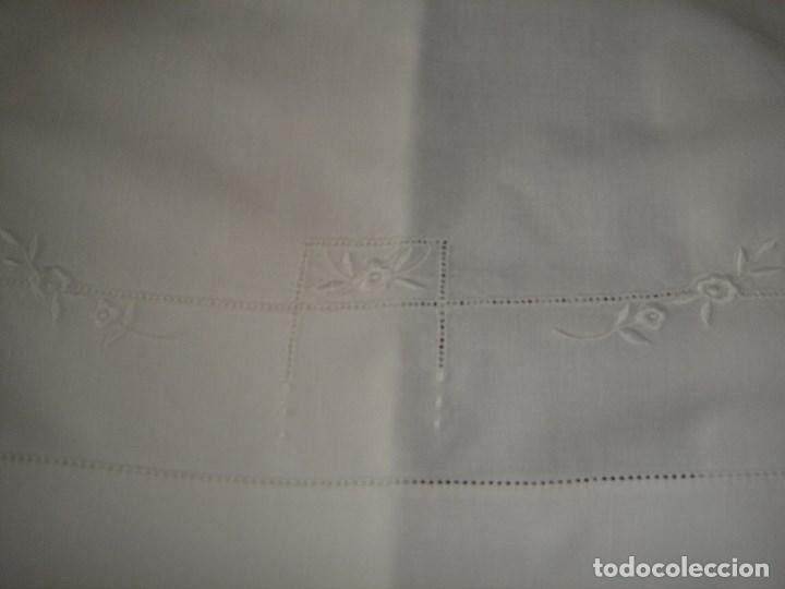 Antigüedades: juego de cama de hilo modernista con aplicacioes de encaje,para cama pequeña (1) - Foto 8 - 117447571