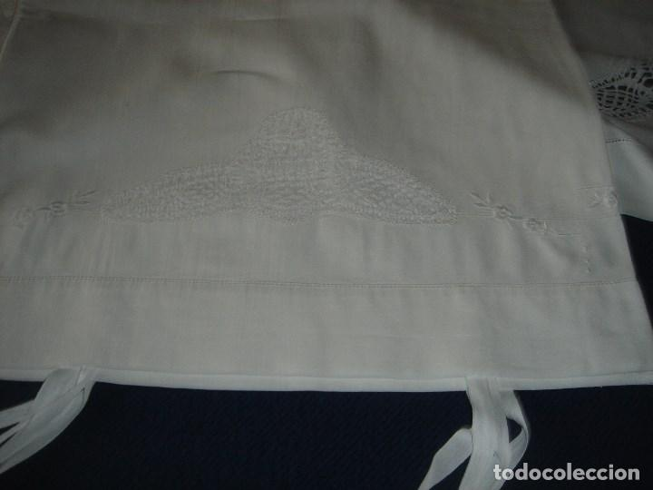 Antigüedades: juego de cama de hilo modernista con aplicacioes de encaje,para cama pequeña (1) - Foto 9 - 117447571