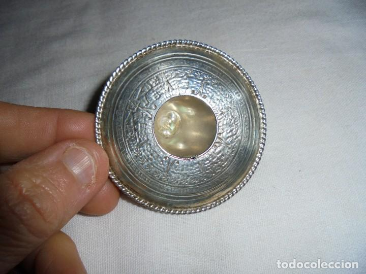 Antigüedades: SOMBRERO DE PLATA 925 MEXICO MARCAS DE LA PLATA EN EL LATERAL - Foto 3 - 117474535