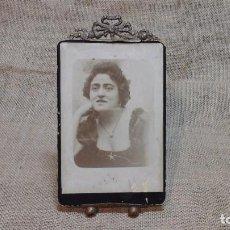 Antigüedades: PORTAFOTOS -ATRIL FRANCÉS EN BRONCE . FINALES DEL XIX . Lote 117486863