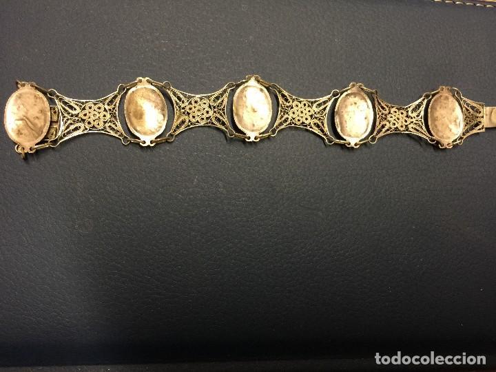 Antigüedades: PULSERA PLATA ESMALTES Y FILIGRANA ANTIGUA - Foto 4 - 117517747