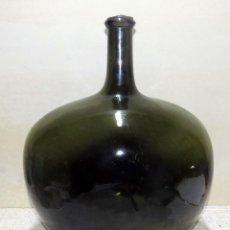 Antigüedades: DAMAJUANA, CRISTAL SOPLADO, BONITO COLOR, PERFECTO ESTADO, ALTURA 45 CM,. Lote 117519179