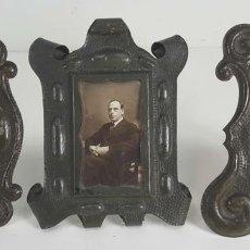 Antigüedades: CONJUNTO DE 3 MARCOS. HIERRO FORJADO. SIGLO XIX-XX. . Lote 117521467