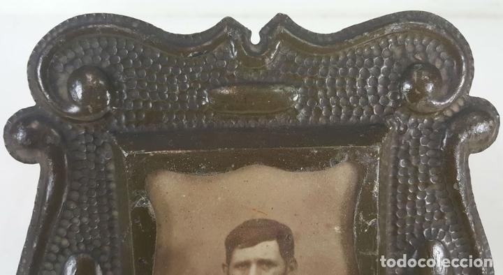 Antigüedades: CONJUNTO DE 3 MARCOS. HIERRO FORJADO. SIGLO XIX-XX. - Foto 6 - 117521467