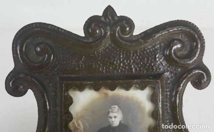 Antigüedades: CONJUNTO DE 3 MARCOS. HIERRO FORJADO. SIGLO XIX-XX. - Foto 7 - 117521467