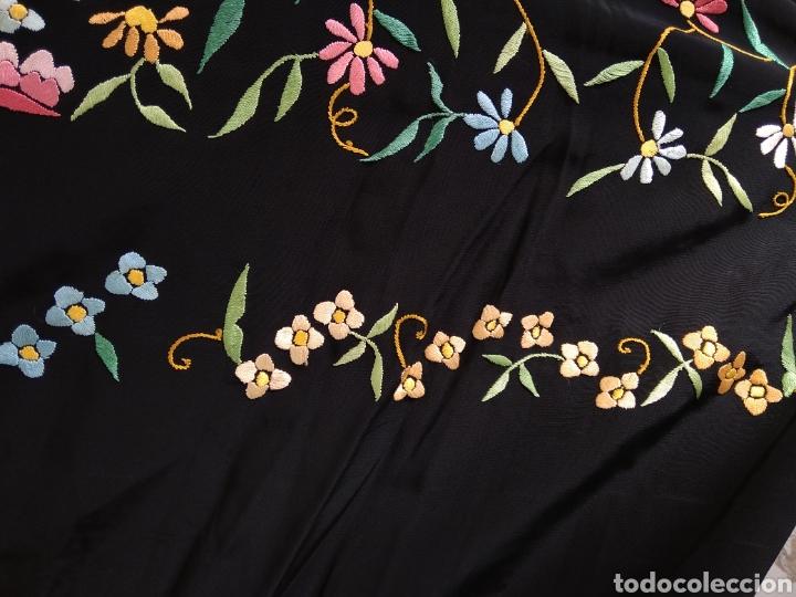 Antigüedades: Manton de Manila bordado a mano - Foto 4 - 117526175