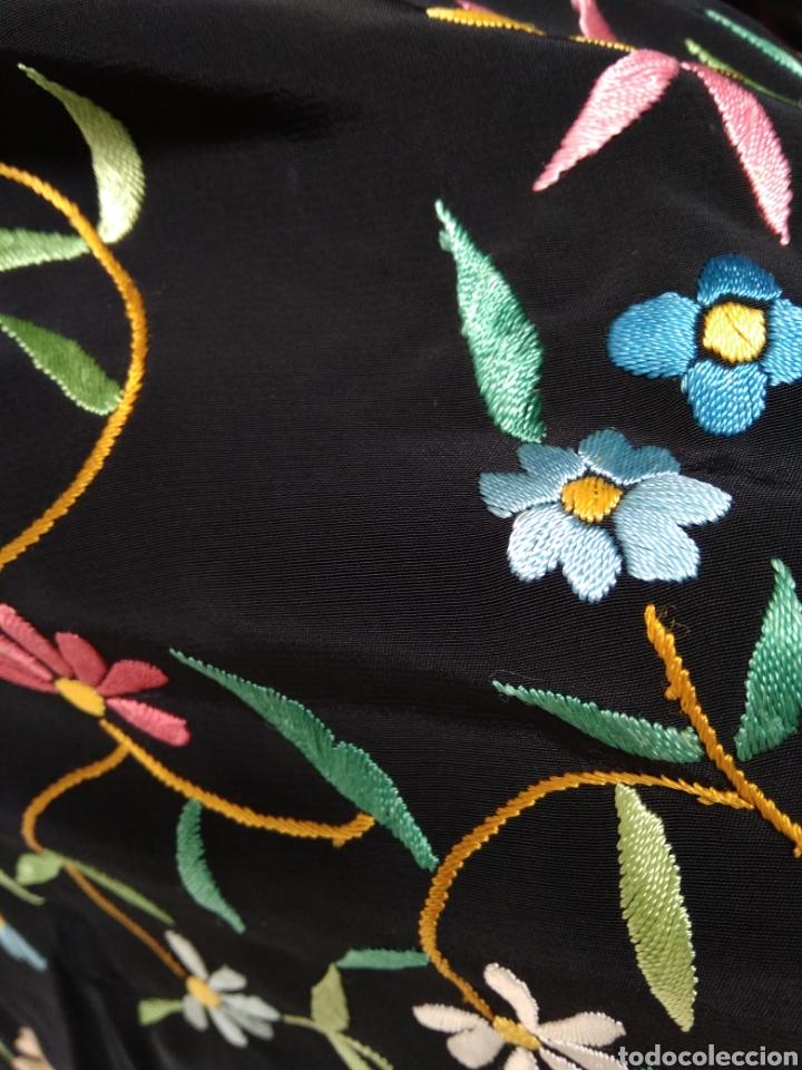 Antigüedades: Manton de Manila bordado a mano - Foto 5 - 117526175