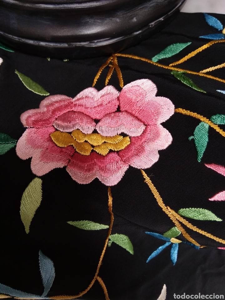 Antigüedades: Manton de Manila bordado a mano - Foto 6 - 117526175