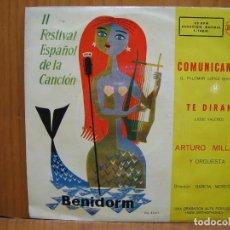 Discos de vinilo: SINGLES II FESTIVAL DE LA CANCIÓN BENIDORM 1960. Lote 117528807