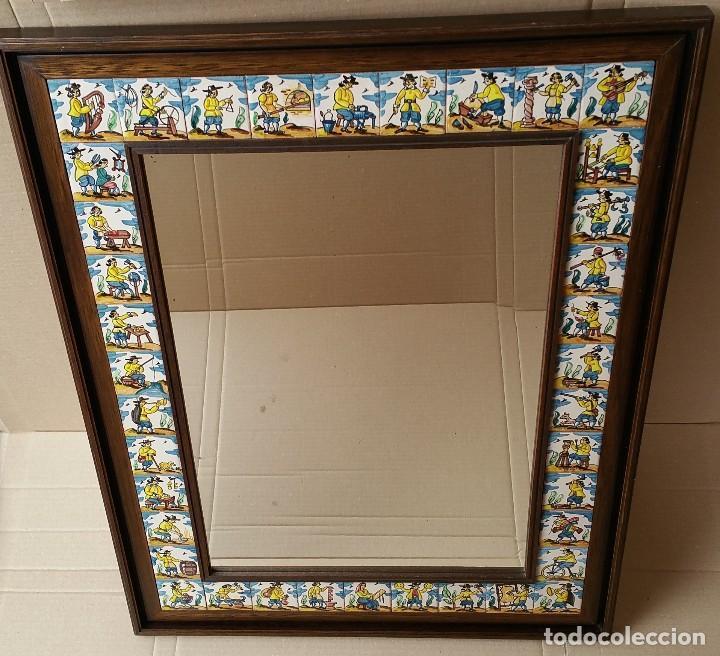 Espejo Con Marco De Madera Decorado Con Azulejo Vendido En