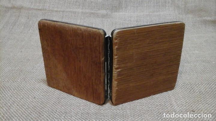 Antigüedades: Portafotos doble en alpaca plateada Marcado Alpadur - Foto 3 - 117589963