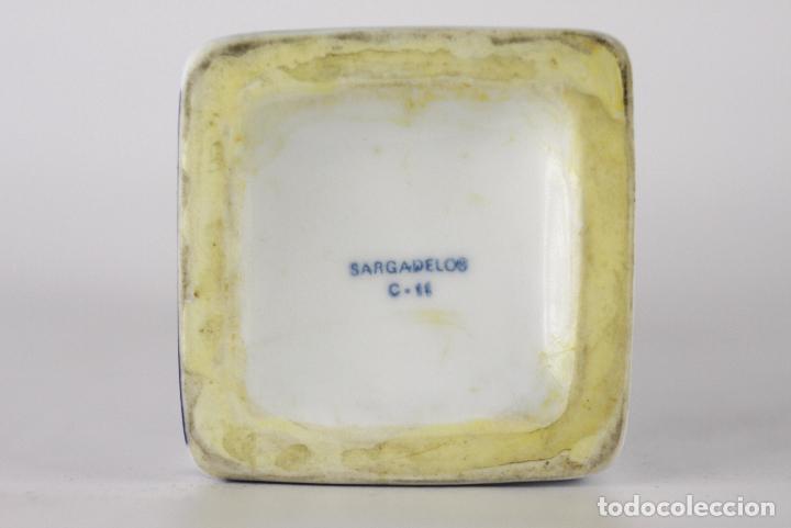Antigüedades: botella Sargadelos porcelana torre Hercules - Foto 3 - 117605255
