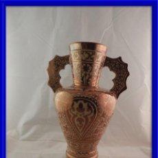Antigüedades: ANTIGUO JARRON DE CERAMICA DE REFLEJOS DE MANISES PERFECTO ESTADO. Lote 117607879