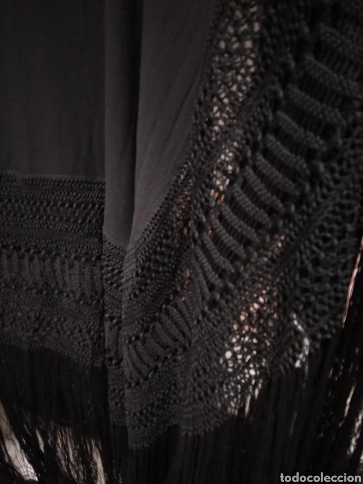 Antigüedades: Manton de manila hecho a mano siglo XX - Foto 4 - 117611855