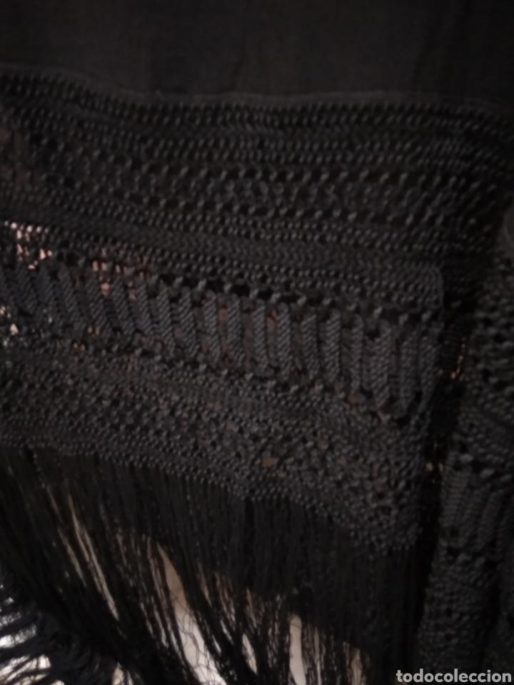 Antigüedades: Manton de manila hecho a mano siglo XX - Foto 6 - 117611855