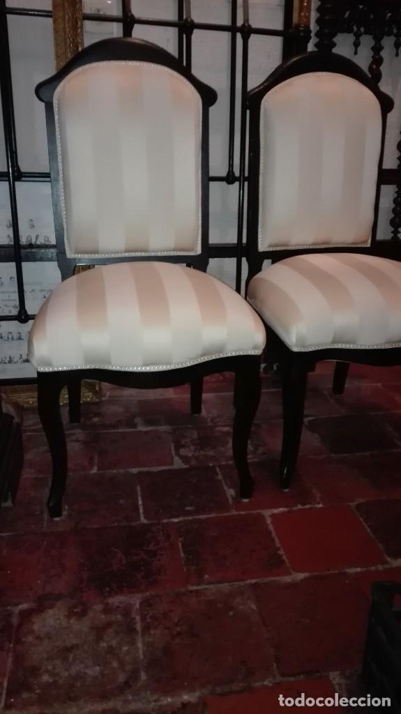 PAREJA DE SILLAS S XIX (Antigüedades - Muebles Antiguos - Sillas Antiguas)