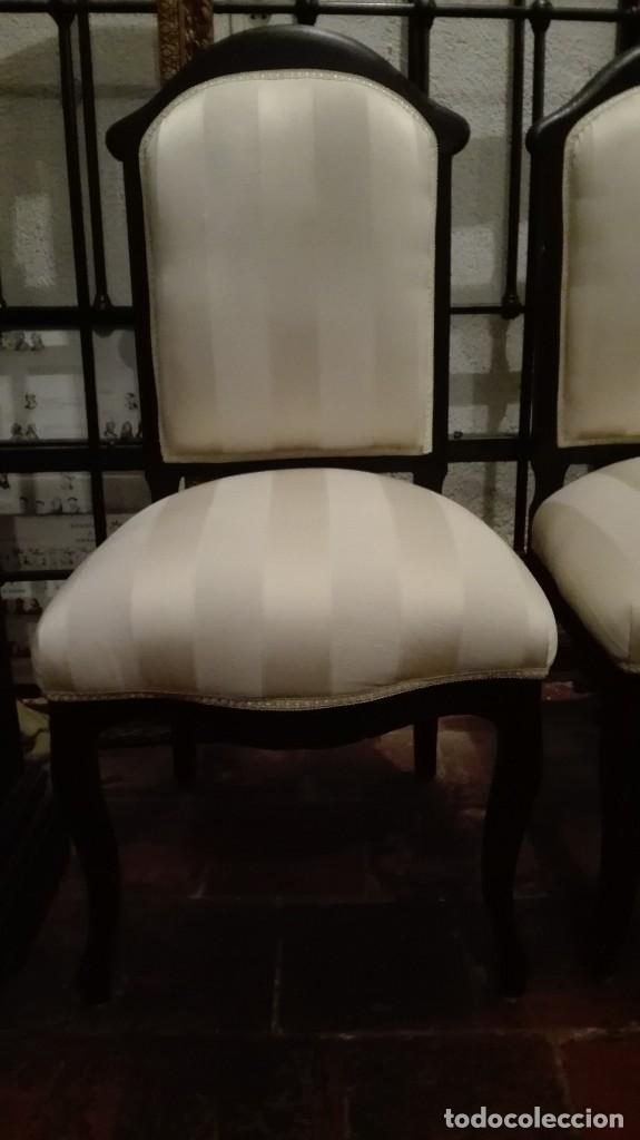 Antigüedades: Pareja de sillas s XIX - Foto 2 - 117611943