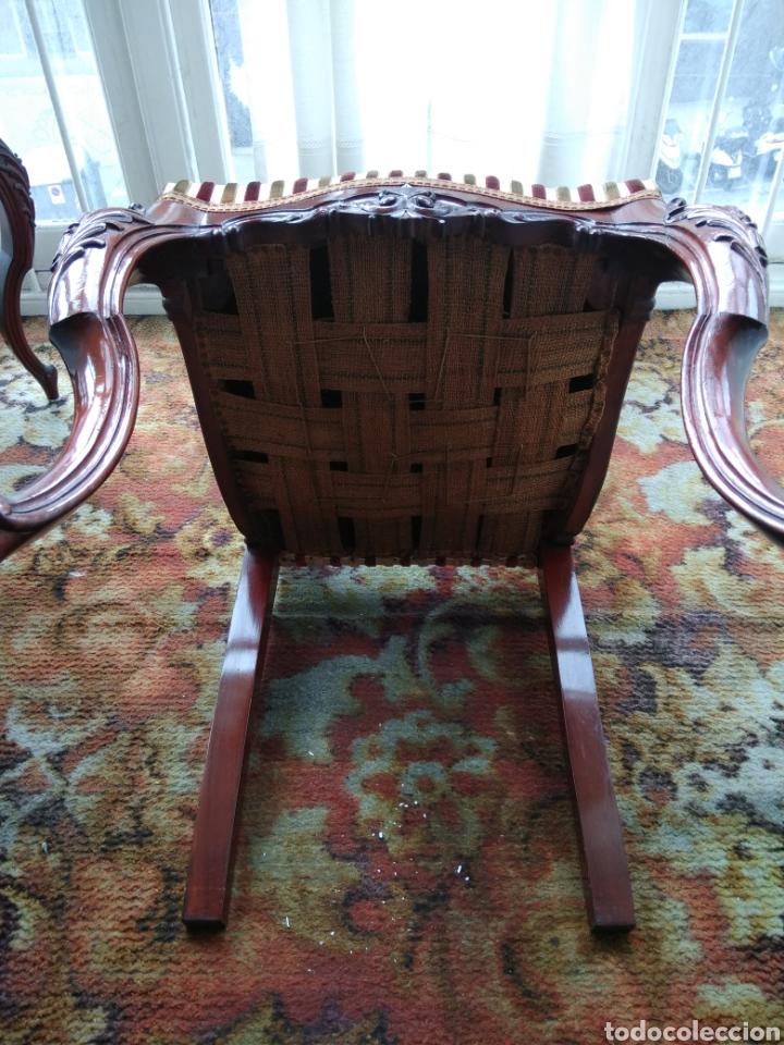 Antigüedades: Sillas de madera tapizada - Foto 3 - 117631344